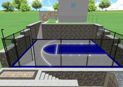 Basketball Court Walled Area