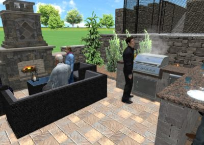 Fireplace and Grill Area