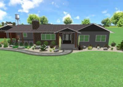 Gregory Landscape -Front House Planting