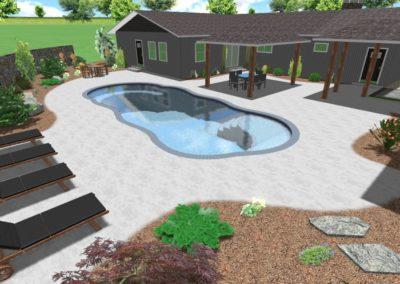 Gregory Landscape - Pool Perspective