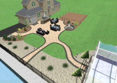 Payne Landscape - Backyard Overview 4' Fire Pit
